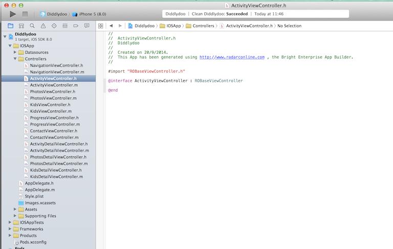 Sample app in Xcode